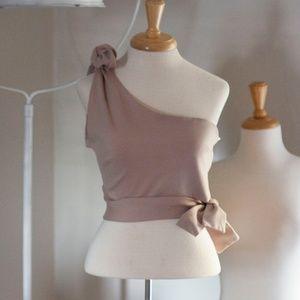Sabo Skirt Tie Crop Top